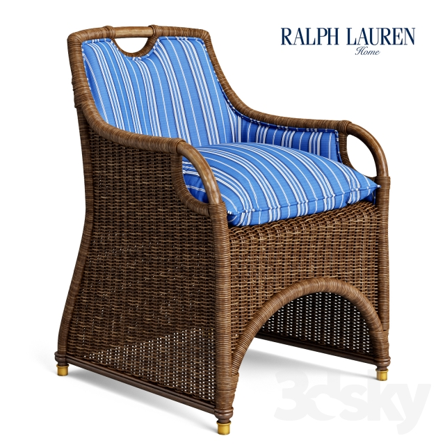 3d models arm chair ralph lauren jamaica wicker dining for Ralph lauren outdoor furniture