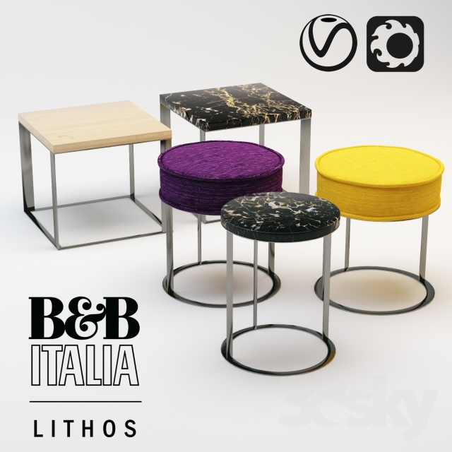 3d models Table B amp B Italy Maxalto Lithos