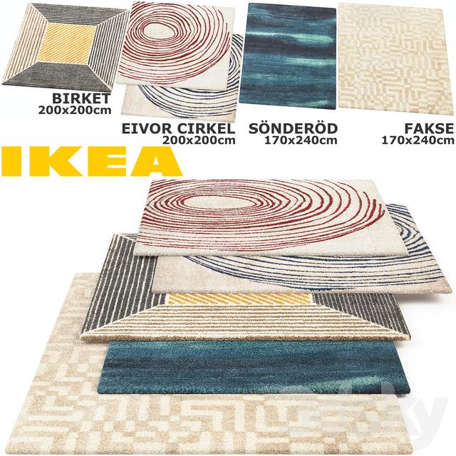 3d Models Carpets Ikea Birket Eivor Cirkel Sonderod