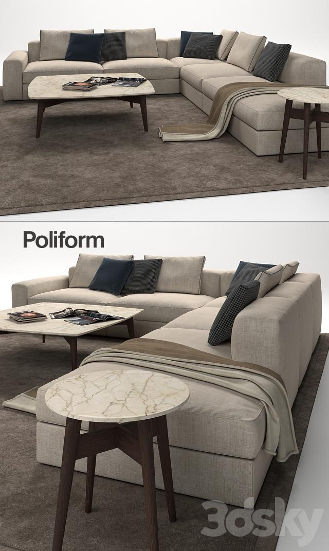 3d models Sofa Poliform Dune Sofa