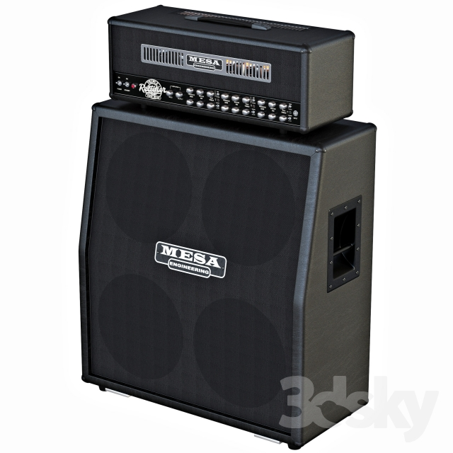 3d models audio tech stack guitar mesa boogie triple rectifier 4x12 cab. Black Bedroom Furniture Sets. Home Design Ideas