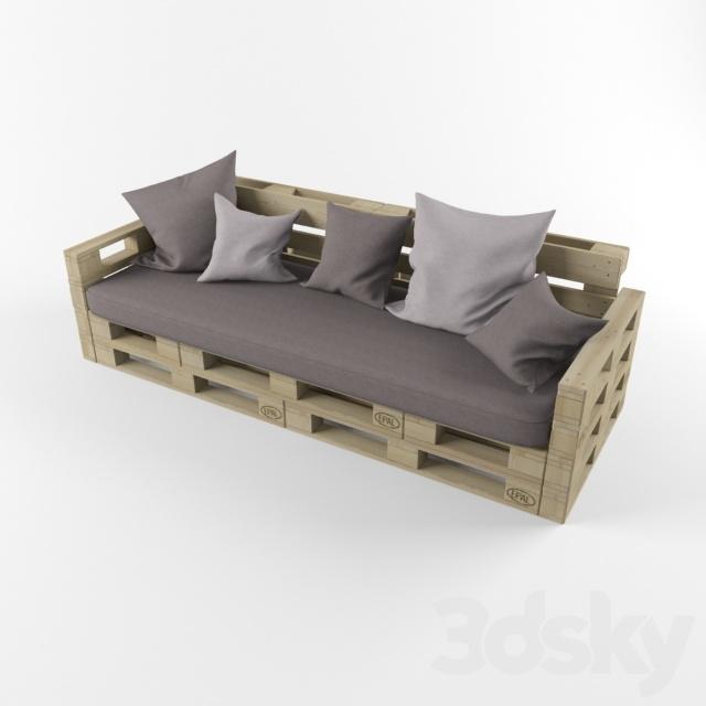3d models sofa sofa of pallets pallet for Divan ovalia 05 version 2