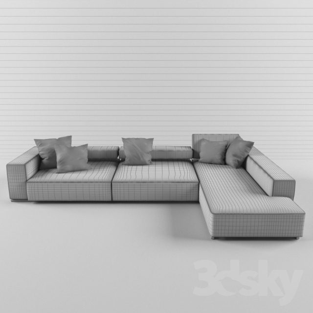 3d models sofa sofa b b italia andy 13. Black Bedroom Furniture Sets. Home Design Ideas