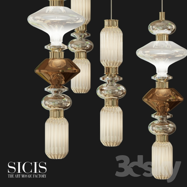 3d models ceiling light ballet ceiling lamp