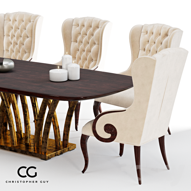 3d Models: Table + Chair   Rain Forest U0026amp; Elysées By Christopher Guy