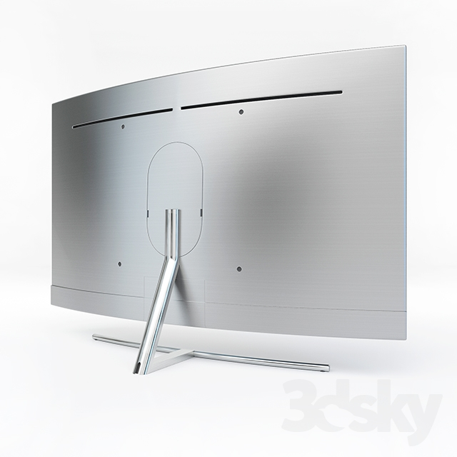 3d models tv samsung qled 4k curved smart tv q8c. Black Bedroom Furniture Sets. Home Design Ideas