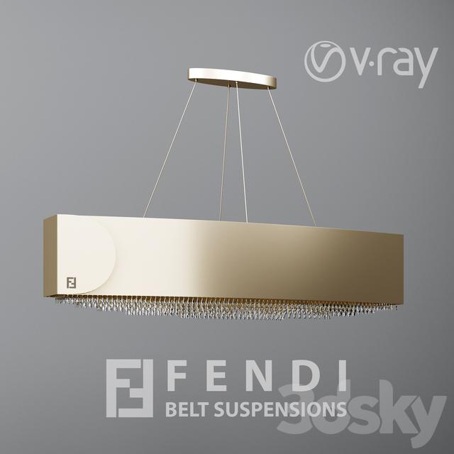 Models Ceiling Light Fendi Casa Belt Suspensions