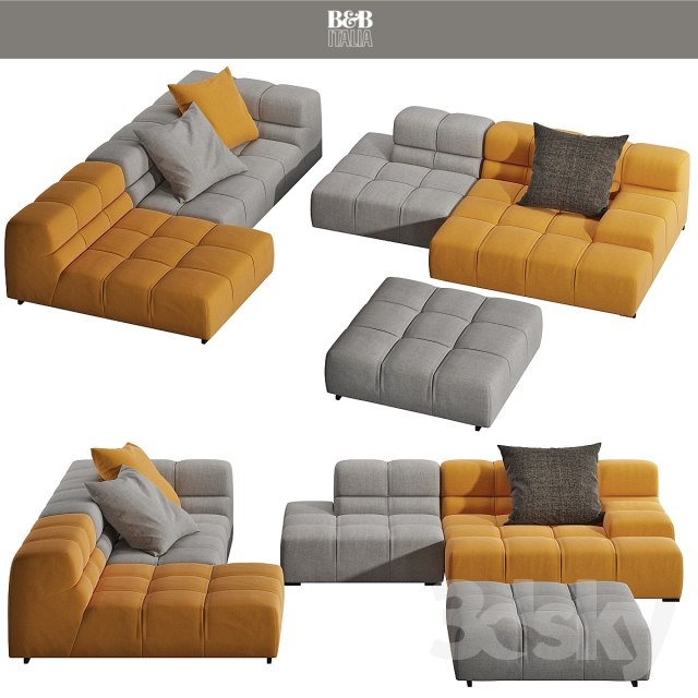 3d models sofa sofa tufty time 15 from b b italia. Black Bedroom Furniture Sets. Home Design Ideas
