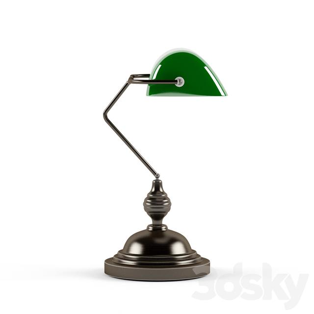3d Models Table Lamp Laurie Lumiere Lampe De Bureau 60 W Banker
