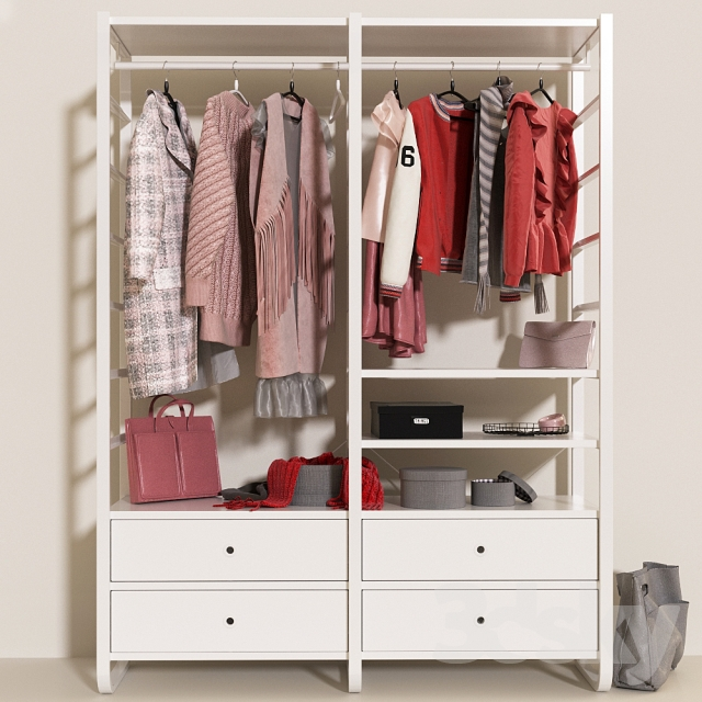 3d Models: Clothes And Shoes   Open Wardrobe IKEA Elvarli C ...