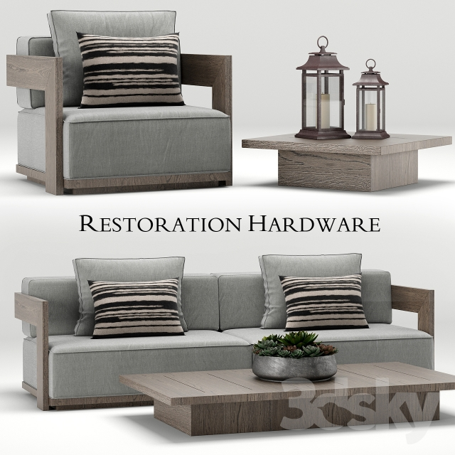 3d models other architectural elements restoration for Restoration hardware teak outdoor furniture