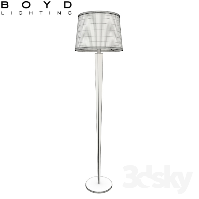 3d models floor lamp boyd barbara barry pacific heights for Barbara barry floor lamp