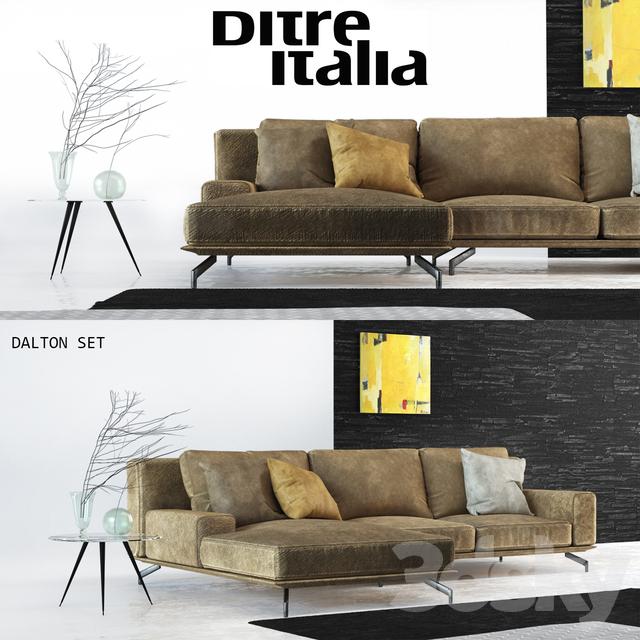 3d Models Sofa Sofa Ditre Italia Dalton With Decor