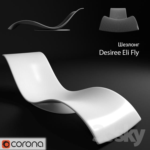 3d models other italian chaise longue desiree eli fly. Black Bedroom Furniture Sets. Home Design Ideas