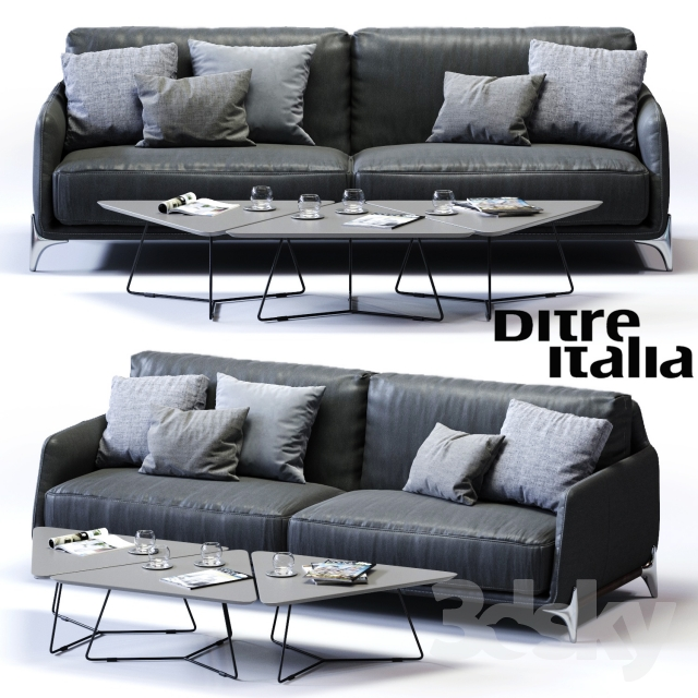 3d models sofa ditre italia elliot 3 er maxi sofa. Black Bedroom Furniture Sets. Home Design Ideas