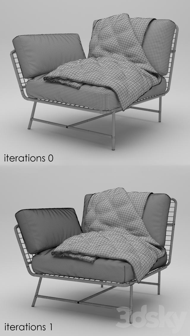 IKEA PS 2017 Corner chair. 3dsMax 2013 + obj (Vray) ... & 3d models: Arm chair - IKEA PS 2017 Corner chair