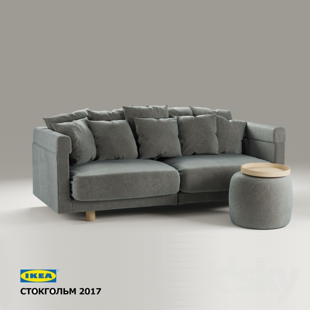 Great Sofa, Pouf, Tray IKEA Stockholm 2017