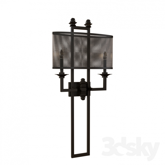 3d models wall light savoyhouse structure 2 light sconce for Savoy house com