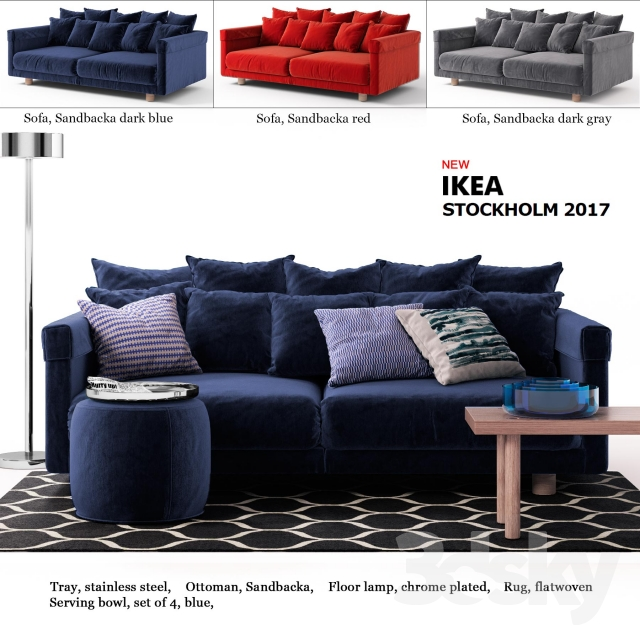 3d models sofa sofa ikea stockholm 2017 ikea stockholm 2017. Black Bedroom Furniture Sets. Home Design Ideas