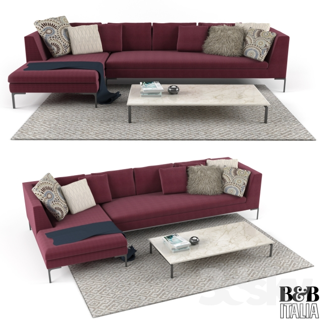 3d models sofa b b italia charles sofa. Black Bedroom Furniture Sets. Home Design Ideas
