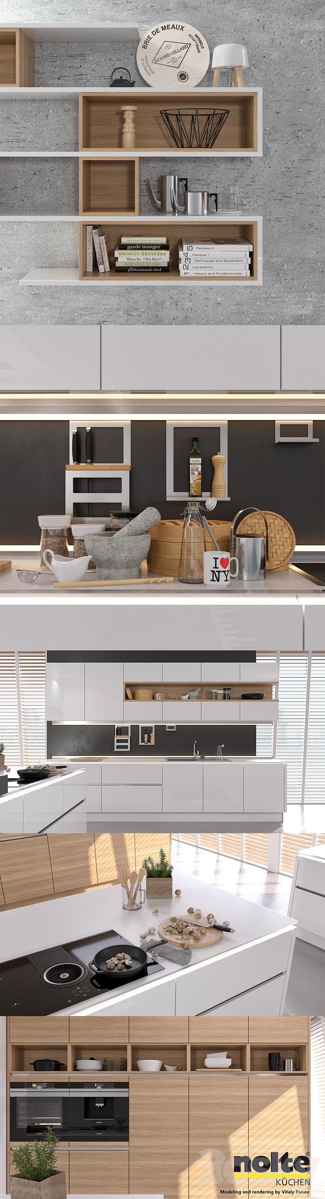 3d models Kitchen Kitchen NOLTE Nova Lack vray GGX