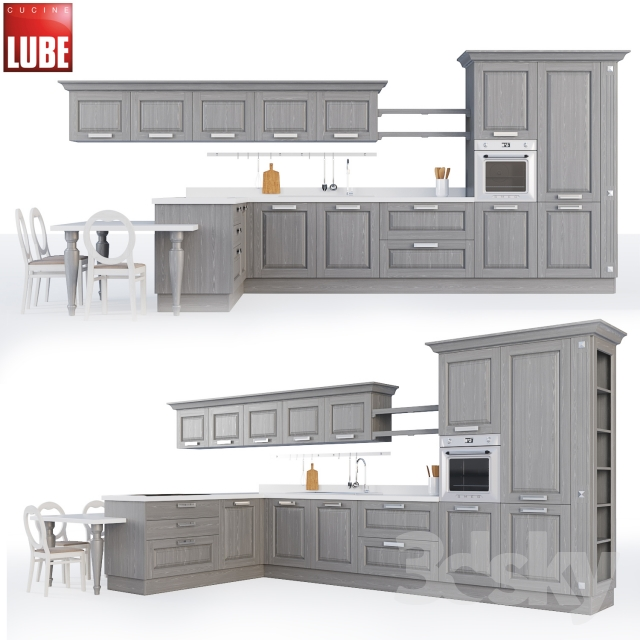 3d models: Kitchen - Cucine LUBE Laura