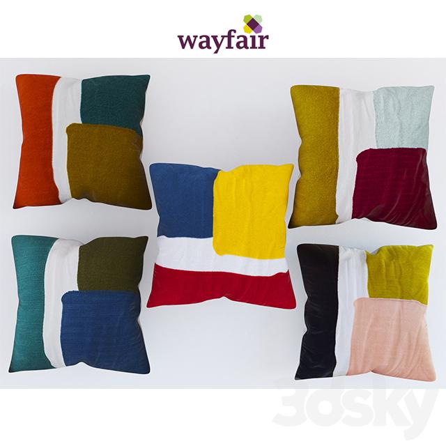 Wayfair Modern Pillow : 3d models: Pillows - pillows.wayfair set 1
