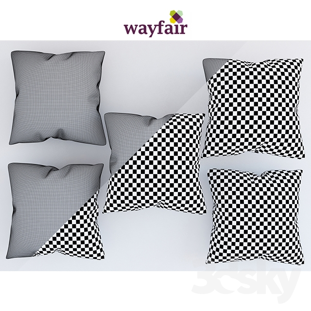 3d models: Pillows - pillows.wayfair set 1