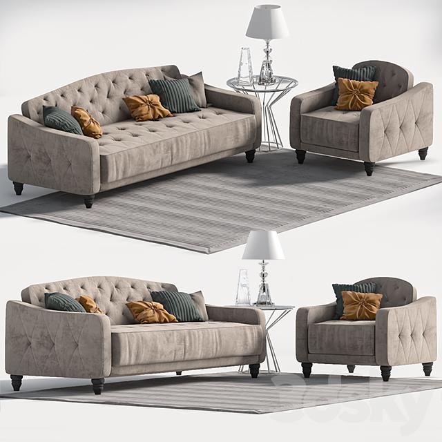 3d Models Sofa Novogratz Vintage Tufted Sofa Sleeper Ii