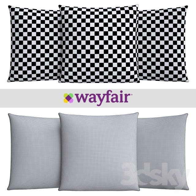 Wayfair Blue Decorative Pillows : 3d models: Pillows - Decorative pillows from Wayfair shop