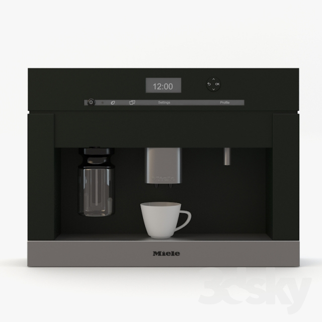 3d models kitchen appliance miele cva 6401 built in coffee system. Black Bedroom Furniture Sets. Home Design Ideas