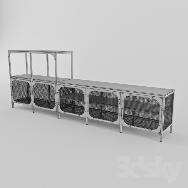 3d Models Sideboard amp Chest Of Drawer Ikea FJALLBO