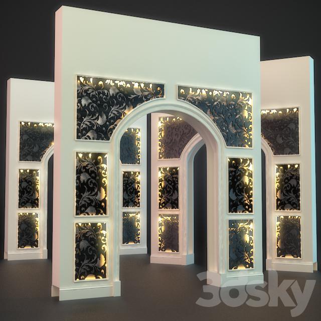 3d models decorative plaster decor arc