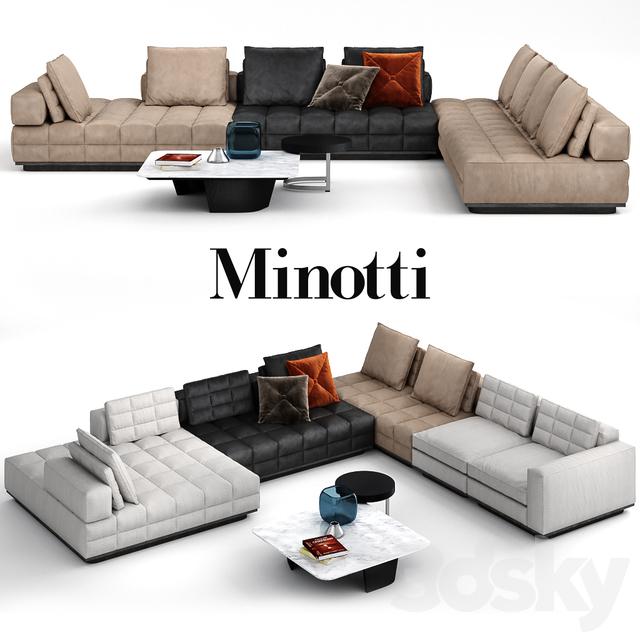 Lawrence Sofa Clan Modular System By Minotti