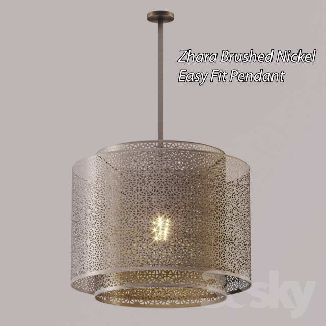 3d models ceiling light chandelier zhara brushed nickel easy fit chandelier zhara brushed nickel easy fit pendant aloadofball Choice Image