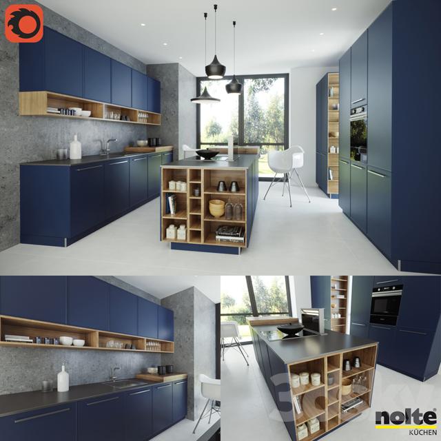 3d Models Kitchen Nolte Carisma Lack Deep Blue