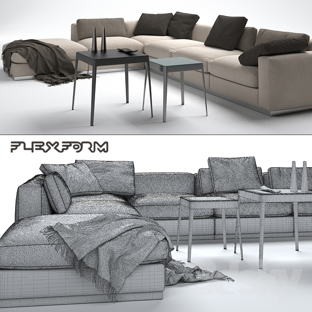 3d models sofa sofa beauty flexform. Black Bedroom Furniture Sets. Home Design Ideas