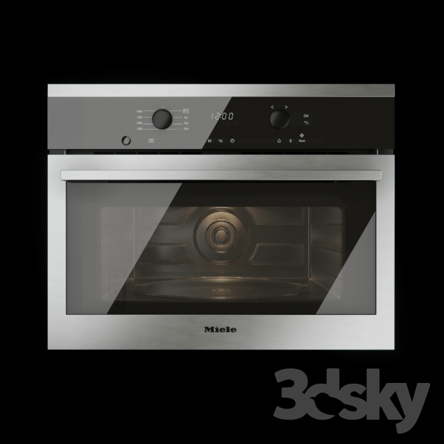 3d models kitchen appliance built in microwave oven miele m6160tc. Black Bedroom Furniture Sets. Home Design Ideas