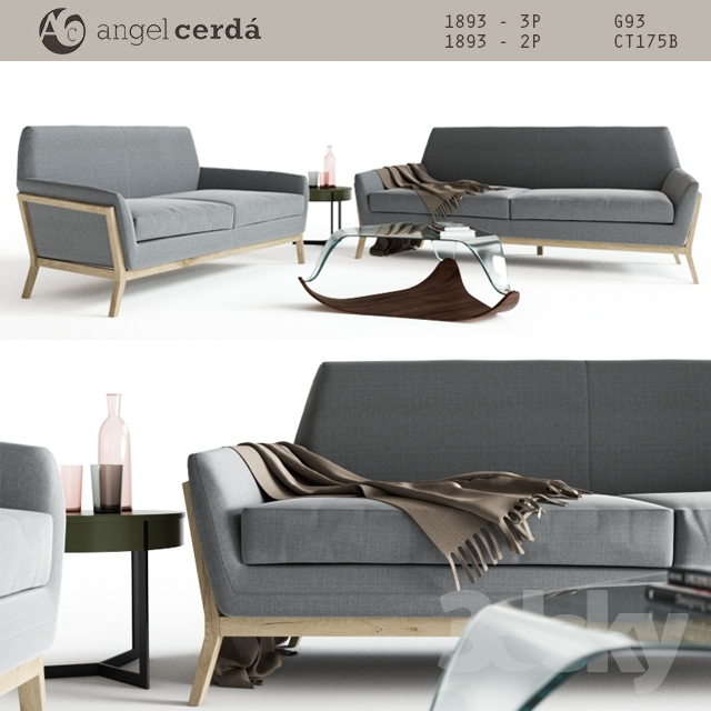 3d models sofa angel cerda furniture for Angel cerda