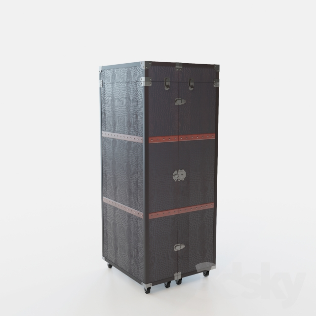 3d Models: Other   Closet Suitcase Bar U0026quot;Colonialu0026quot; (Colonial)