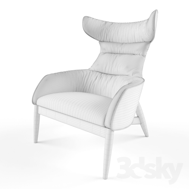 3d Models Chair Ritzwell Beatrix Fabric Leather Armchair