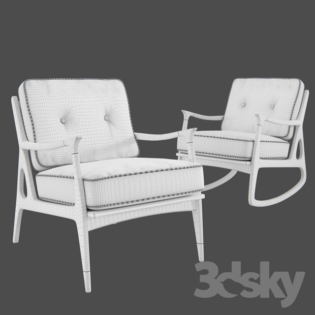 Phenomenal 3D Models Arm Chair Anthropologie Haverhill Rocking Chair Onthecornerstone Fun Painted Chair Ideas Images Onthecornerstoneorg