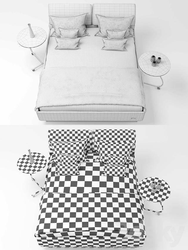 ruf bett casa ktd, 3d models: bed - bed ruf betten casa ktd, Design ideen