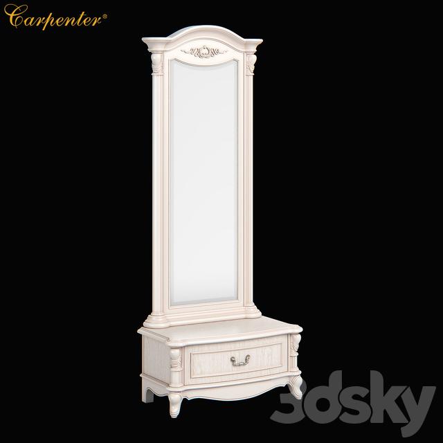 2516700 230 Carpenter Long mirror with drawer 847x450x2050