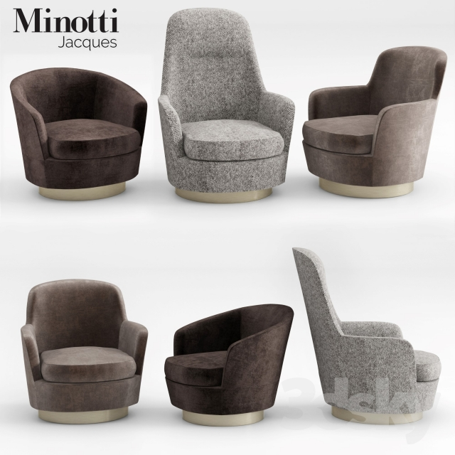 3d Models Arm Chair Minotti Jacques Armchairs Collection