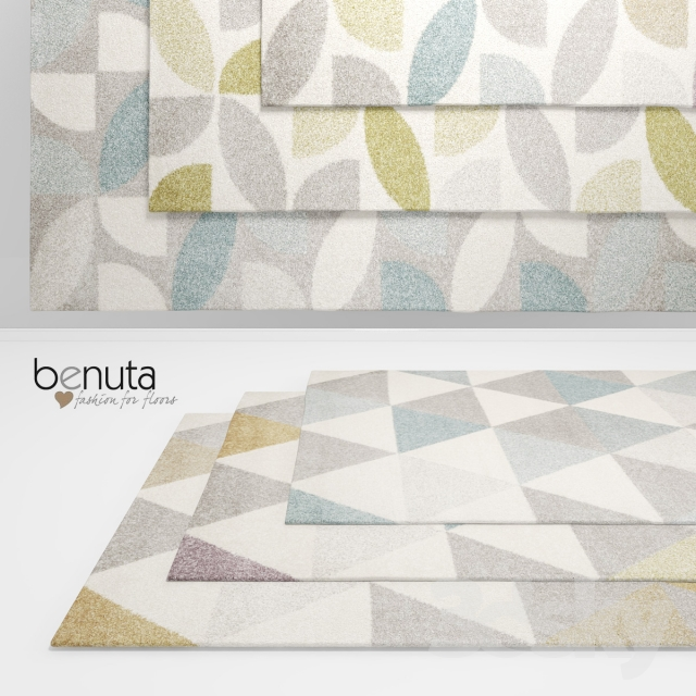 3d models Carpets  Benuta Pastel Geomet and Mosaik Rugs