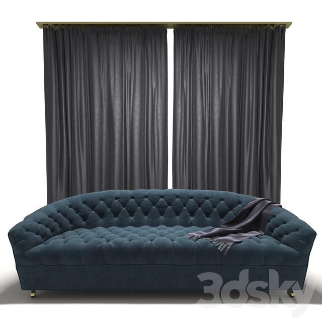 3d models sofa tufted classic style sofa for Classic style sofa