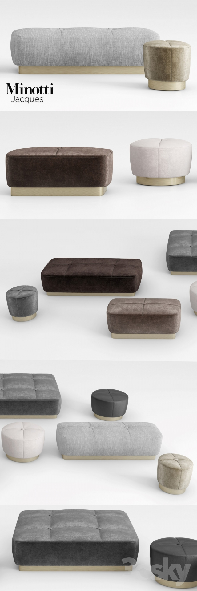 3d Models Other Soft Seating Minotti Jacques Ottomans