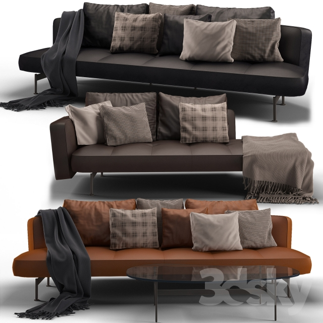 3d models sofa b b italia sak sofa 03. Black Bedroom Furniture Sets. Home Design Ideas