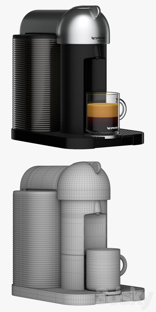 3d models kitchen appliance nespresso vertuoline coffee and espresso maker. Black Bedroom Furniture Sets. Home Design Ideas